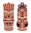 tiki pole totem design in brown - hawaii vector image