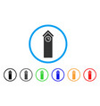 time tower rounded icon vector image