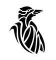 tribal tattoo art with black stylized dolphin vector image vector image