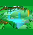 tropical jungle landscape amazon forest vector image vector image
