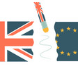 united kingdom and eu broken on two halves vector image