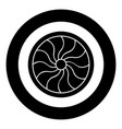 viking shield icon black color in circle round vector image