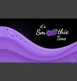 violet natural smoothie blackberry logo banner vector image vector image