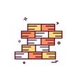 wall icon design vector image