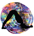 women silhouette dolphin yoga pose ardha pincha vector image vector image