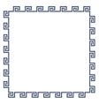 Greek decorative frame for design minimal style vector image