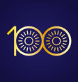 100th anniversary with an infinity symbol vector image