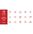 15 view icons vector image vector image