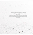 abstract background low poly wire frame on white vector image vector image