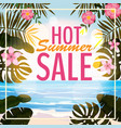 advertisement about the summer sale on background vector image vector image