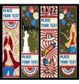 american patriotic vertical banners vector image vector image