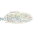are startup incubators right for you text vector image vector image