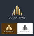arrow gold business logo vector image vector image