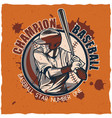 baseball t-shirt label design vector image vector image