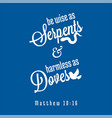 bible quote from matthew vector image vector image