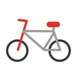 bicycle silhouette isolated icon design vector image