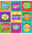 big set of retro speech bubbles with questions vector image vector image