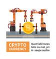 bitcoin mining farm crypto currency production vector image