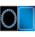 black and blue - frames with grape clusters vector image vector image