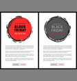 black friday price reduction badges on web pages vector image vector image