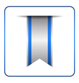 Blue bookmark banner isolated vector image vector image