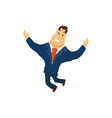 Businessman Cartoon Character in Blue Suit vector image vector image