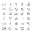 ceo 30 line icons vector image