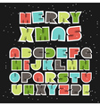 Colorful Retro Christmas Alphabet vector image vector image