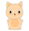 cute little cat on white background vector image vector image