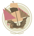 Decorative Sailing ship vector image vector image