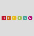 design letters logo transformation concept vector image
