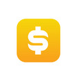 dollar money symbol combined with square vector image vector image