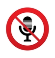 Dont record Microphone icon Speaker symbol vector image vector image