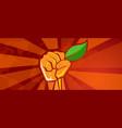 ecology environmental revolution leaf green vector image vector image