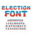 election font political debate in america vector image vector image