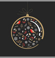 elegant gold and black christmas ornament vector image