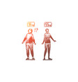 fat thin slim female weight concept vector image