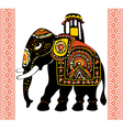 festive indian elephant vector image vector image