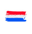 flag of netherlands brush stroke background vector image