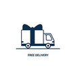 free delivery line icon thin line styled delivery vector image