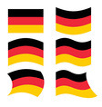 Germany flag Set of flags of German Republic in vector image vector image