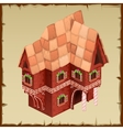 Gingerbread house closeup top view vector image vector image
