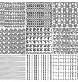grunge textured seamless patterns vector image