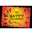 halloween background design for holiday festival vector image vector image