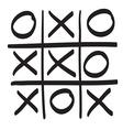 Hand drawn tic tac toe scribble icon symbol vector image
