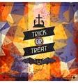 Happy Halloween grungy retro background vector image