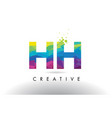 hh h h colorful letter origami triangles design vector image vector image