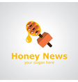 honey news vector image vector image
