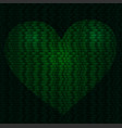 imaginative cyber heart vector image