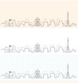 indianapolis hand drawn skyline vector image vector image